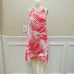 Parker pink and white lightweight dress